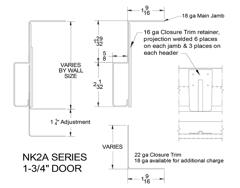 "NK2A Series 1 3/4"" Door"